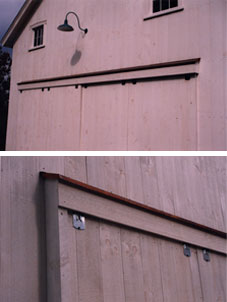 Copper Covered Sliding Door Track Hoods