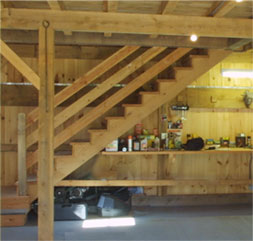 Stairs Added to Weather Hill Barn