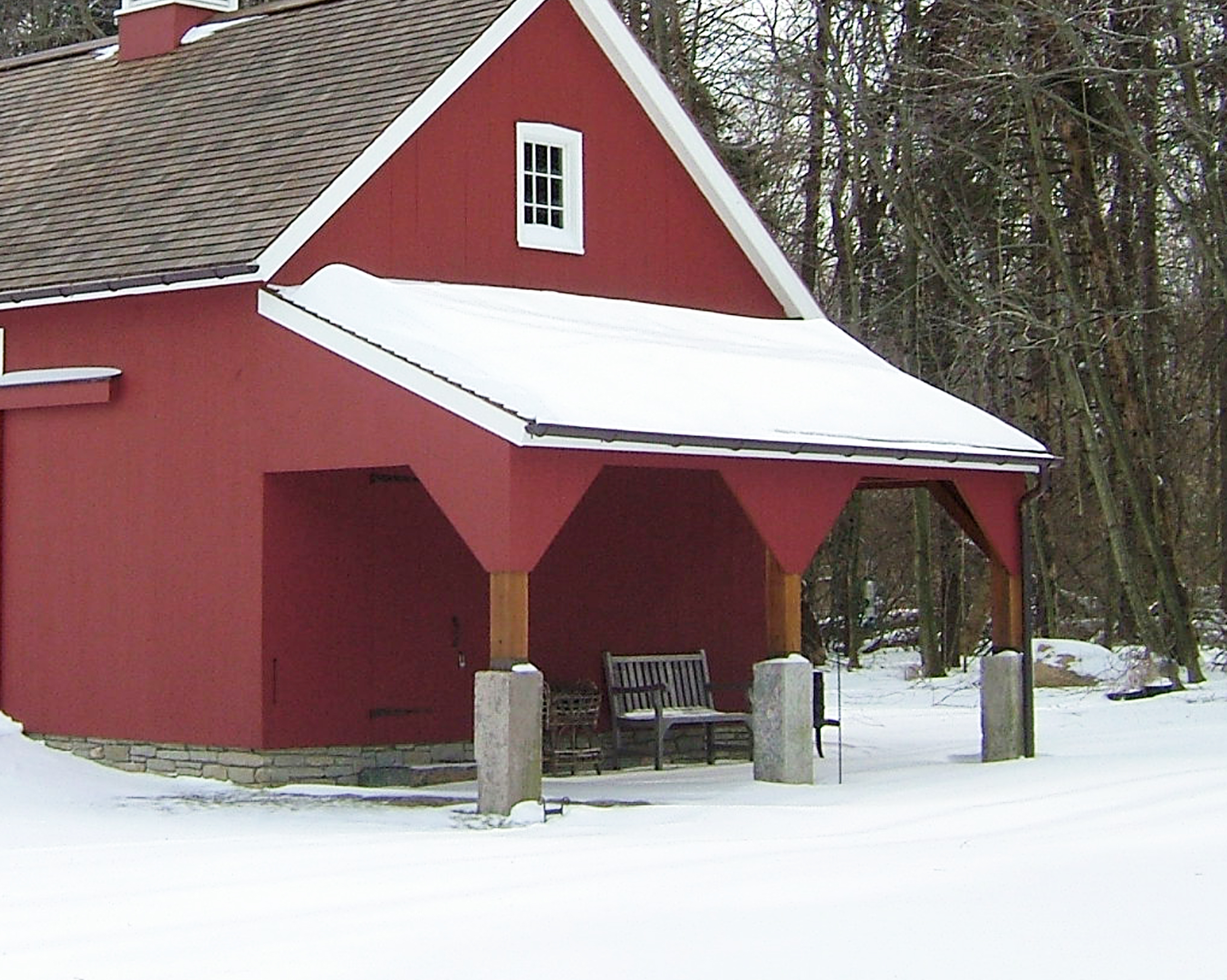 New england barn barn accessories Shed addition