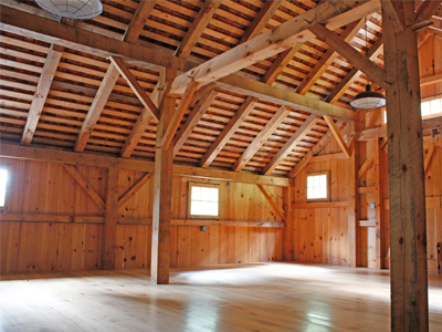 Bank Barn Loft Roof Framing