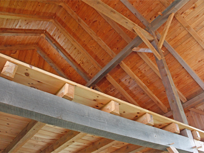 Chamfered End Loft Joists