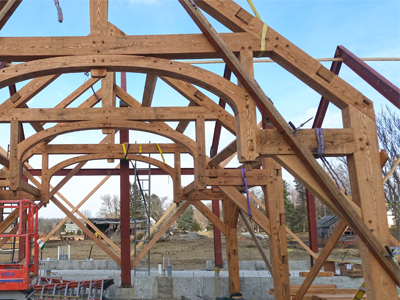 Custom Hammerbeam Barn Frame With Arch 1