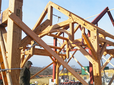 Custom Hammerbeam Barn Frame With Arch 2