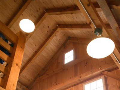 Custom Ridgefield Queenpost Barn Interior