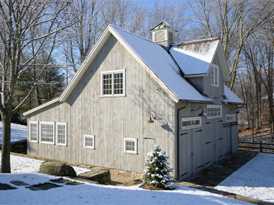Insulated Kent Carriage Barn With Eave Wall Potting Shed