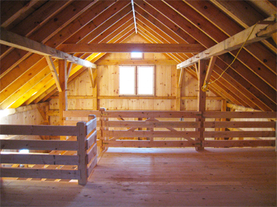 Litchfiled Queenpost Barn Interior