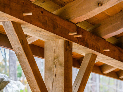 Porch Post Timber Framing