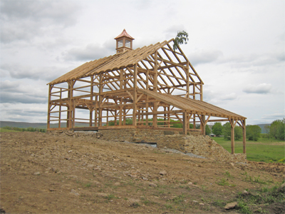 Purlin Post Bank Barn Frame With Gable Wall Shed