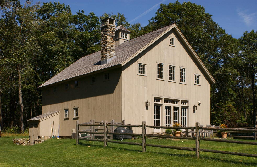 new england barn - purlin post barn